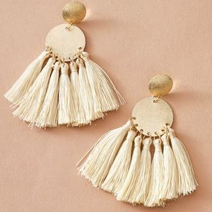 LAST PAIR! Boho geometric tassel earrings